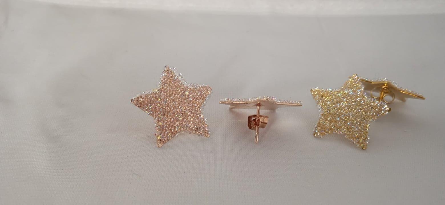 Boucles d'oreilles étoiles»paillettes de cristal»