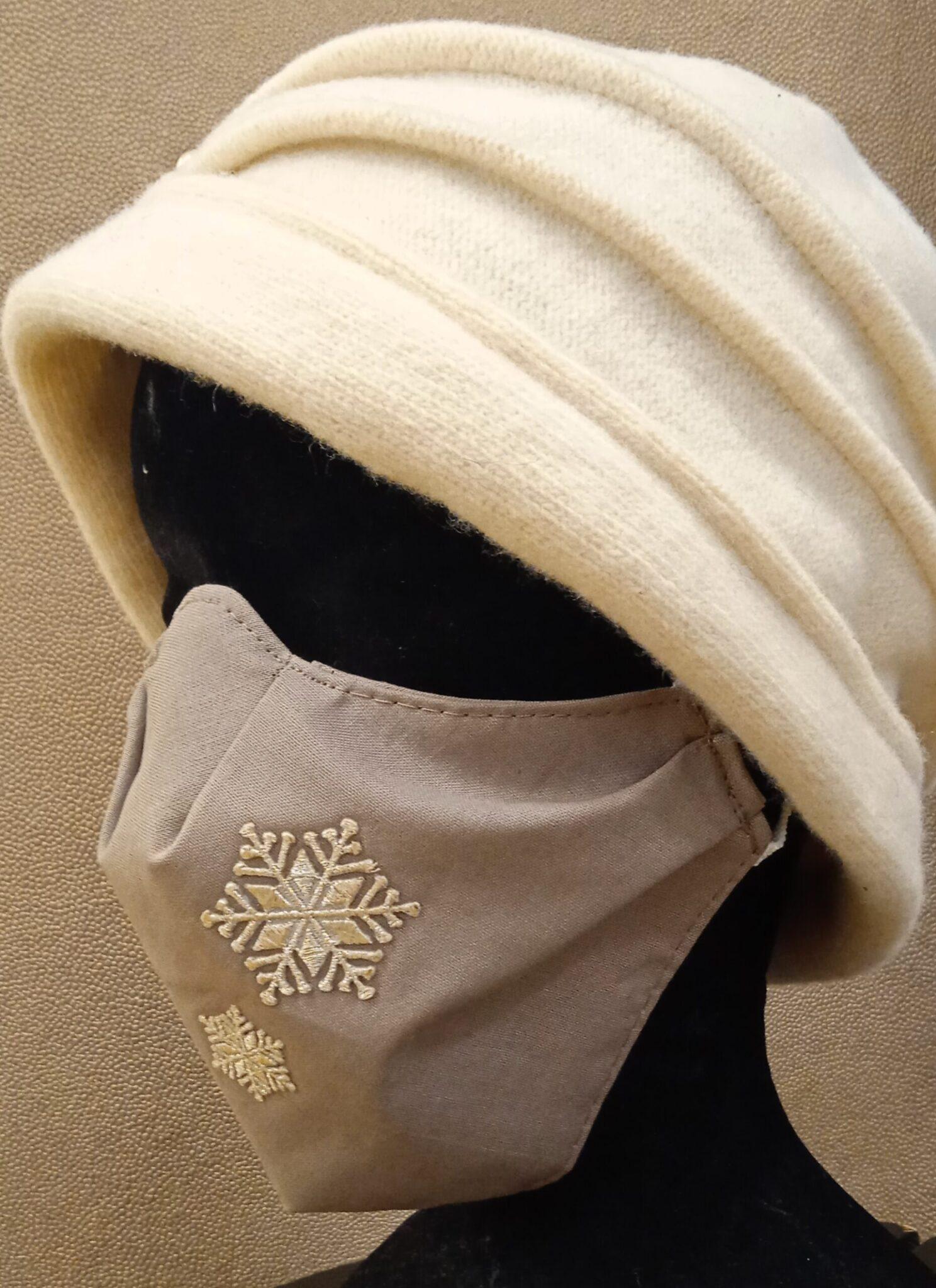 masque coque «cristaux de neige»